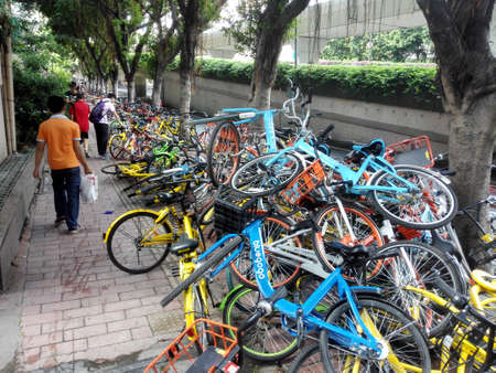 Public bikes on the street