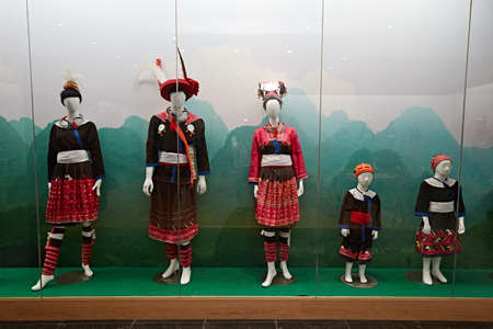 Display of traditional costumes in China