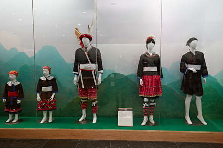 Display of the traditional Nangangpai costumes Editorial