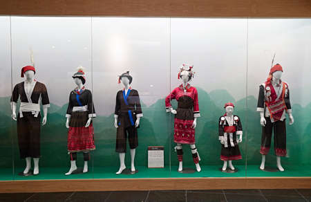 Display of the traditional Damaishan costumes Editorial