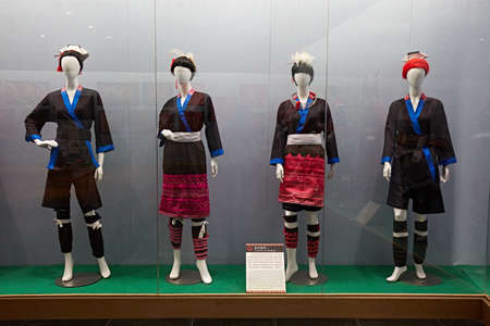 Display of the traditional Xiangping costumes Editorial