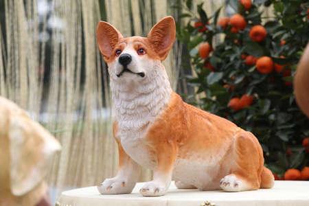 Corgi dog sculpture