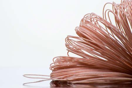 of copper: Ovillo de alambre de cobre recubiertas