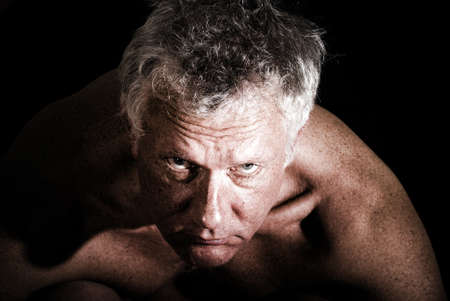 Portrait of a man without skin retouch Stock Photo