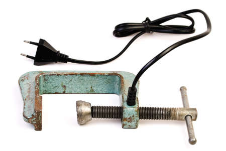 spurious: Clamp with connected electrical wire