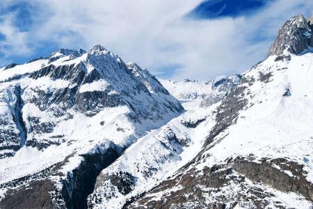 Beautiful mountain view of Swiss alps