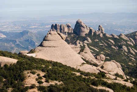Montserrat mountain chain in Catalonia Spain