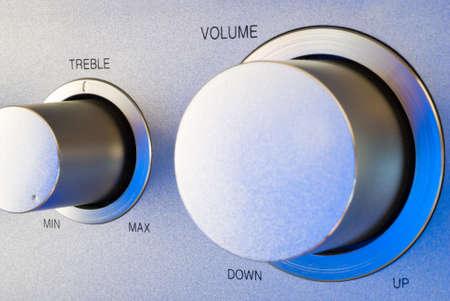 Volume and treble control of a hi-fi amplifier Stock Photo - 10163259