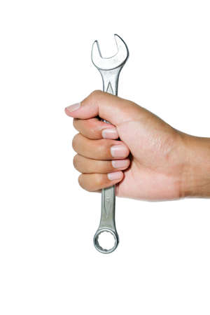 open end wrench: fix or mend (a thing suffering from damage or a fault).faulty electrical appliances should be repaired by an electrician Stock Photo
