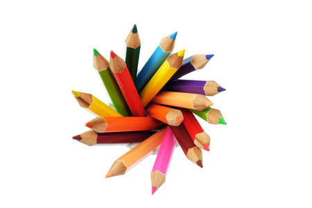 pencil point: A colored pencil
