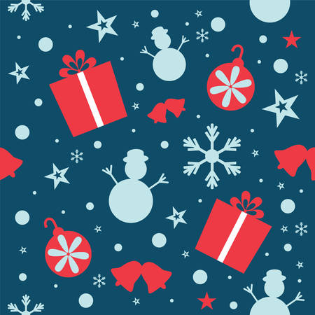 xmas background pattern Vector