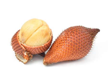 salak: Salak fruit, Salacca zalacca isolated on the white background. Stock Photo