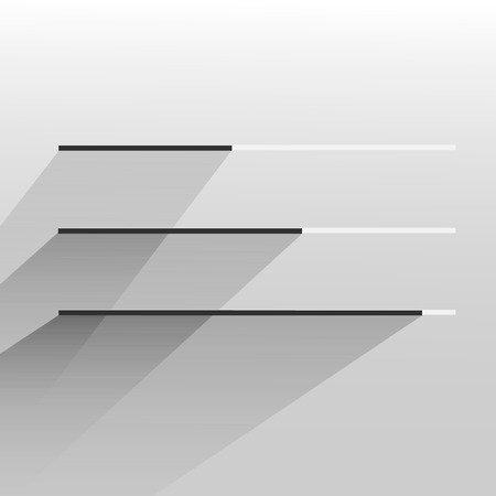 web site: flat white modern trendy design progress bar loading bar status bar progress icon template for app or web site