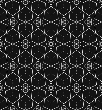 continued: Background with seamless pattern in islamic style