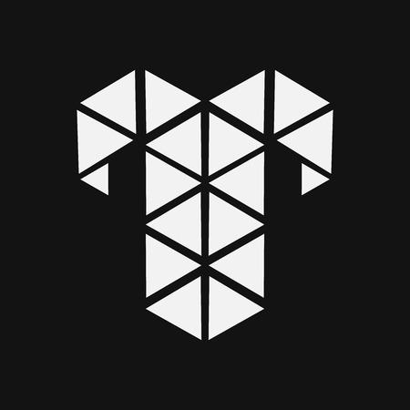 aries: Geometric Zodiac sign design silhouette.Aries.vector illustration Illustration