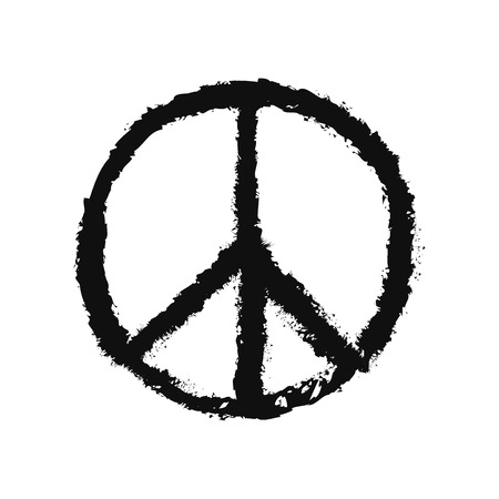 peace: vector sketch icon of peace