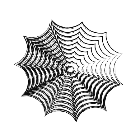 cobwebby: freehand sketch illustration of spider web, doodle hand drawn