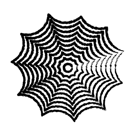 cobwebby: freehand sketch illustration of spider web, doodle hand drawn