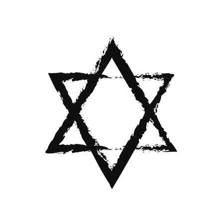 hexagram: Brushwork David Star by Grunge Style