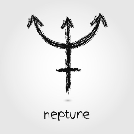 neptune: Vector Sketch  Neptune  Planet icons on the white background Illustration