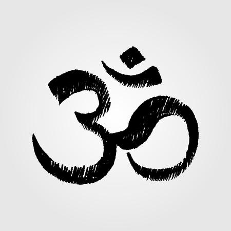 simbolos religiosos: signo y el símbolo de OM