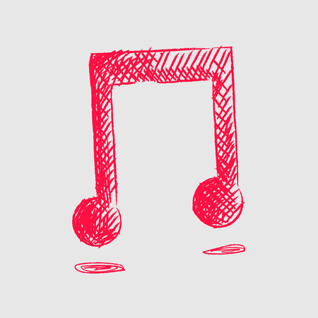 melodies: Music Note doodle  cartoon sketch vector illustration
