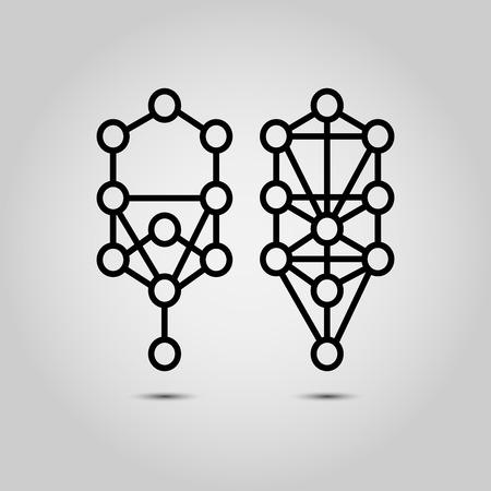universal enlightenment: Kabbalah, Sephiroth, tree of life Illustration
