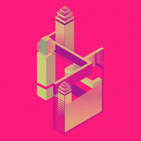 constructor: set of isometric flat cubes constructor, abstract shapes and icons made of several cubes.