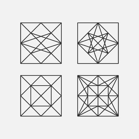 Geometria Sacra. illustrazione vettoriale