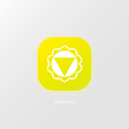 swadhisthana: Vector illustration of Color chakra icon design