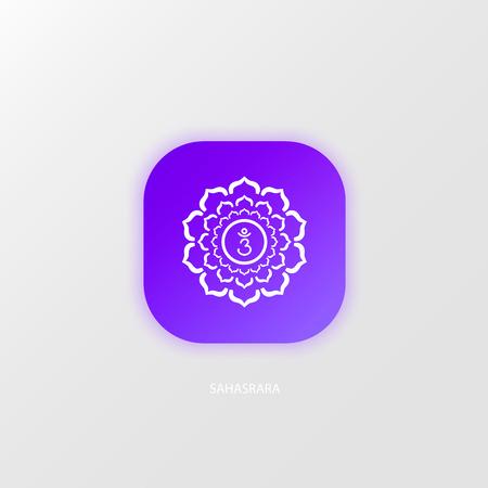 prana: Icon magenta Sahasrara chakra symbol