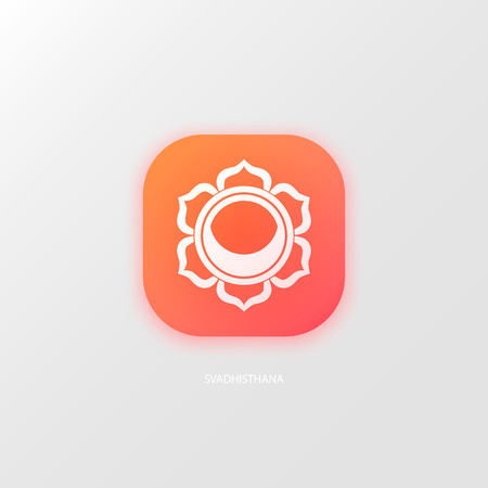 sanskrit: Sacral Chakra isolated Illustration