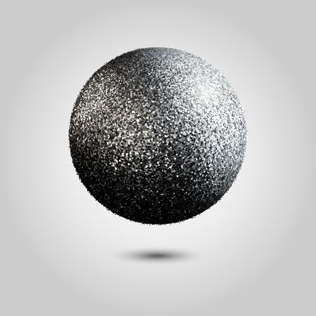 silver: Realistic Silver circle with silver glitter
