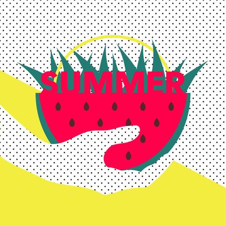 Vintage summer design template