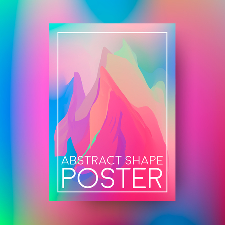 Abstract poster design. Cover composition of geometric colorful shapes. Vector illustration.