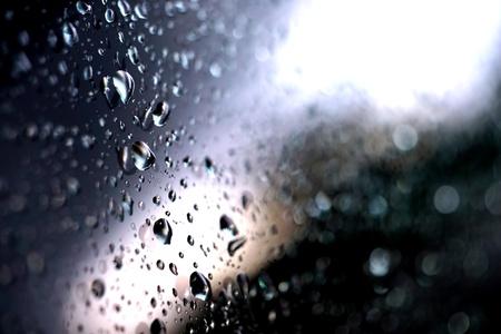 Raindrops Mirror Island Stock Photo