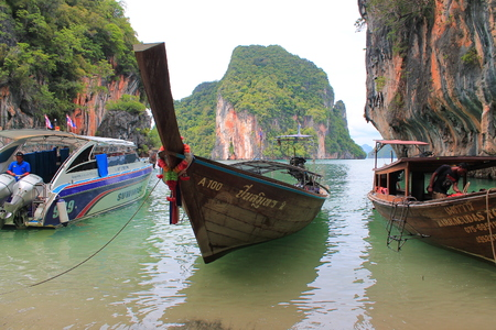 long tail: long tail boat in Thailand Stock Photo