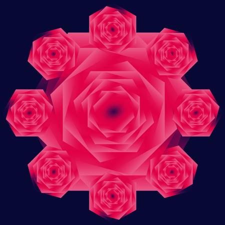rose: red rose and big rose