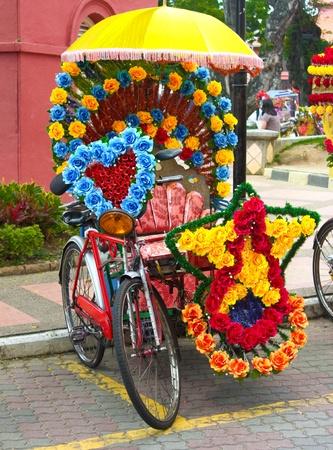 rela: Trishaw in Melaka, Malaysia