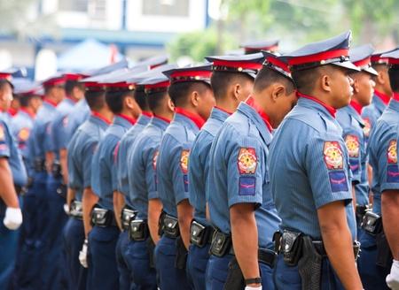 batallón: Los miembros de la Policía Nacional Filipina