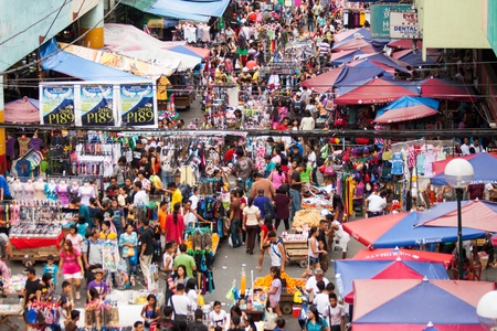 Street market in the Philippines