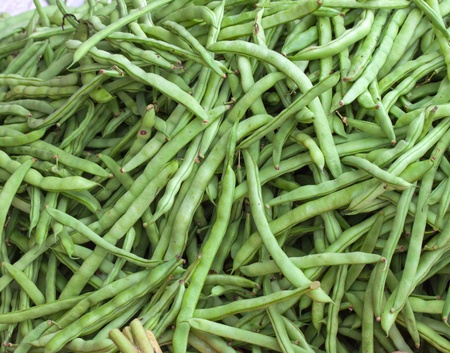 Green Beans for sale in the asian market photo