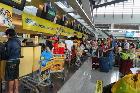 manila: airport check-in counters