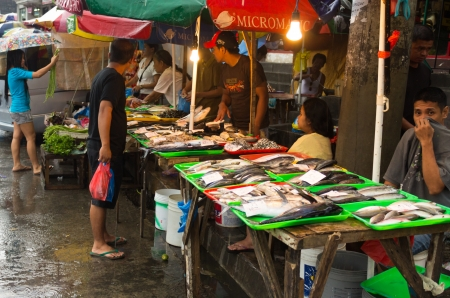 street market: Fish in asian street market Editorial