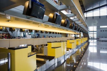 airport check in counter: Immigration check-in counter