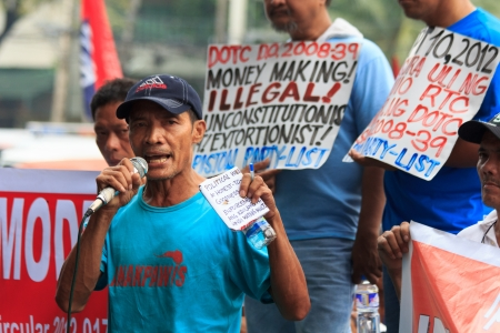 militant: Militant anti-government demonstration