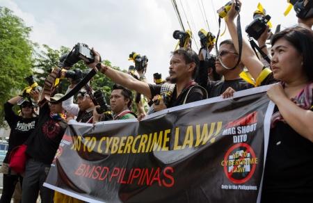 Photographers anti-government rally Stock Photo - 15745323