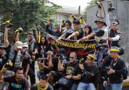 photojournalist: Photographers anti-government rally