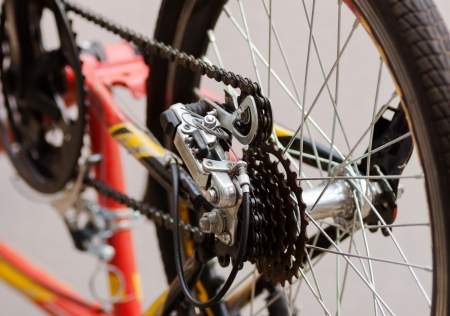 Bicycle chain and sprocket photo