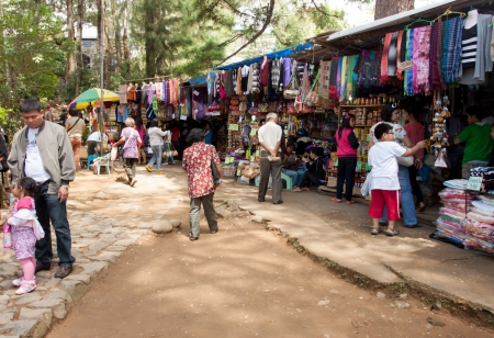 local business: Baguio City, Philippines- May 23, 2013: Local business inside Mines View park, one of the main tourist attraction in the summer capital of the country.
